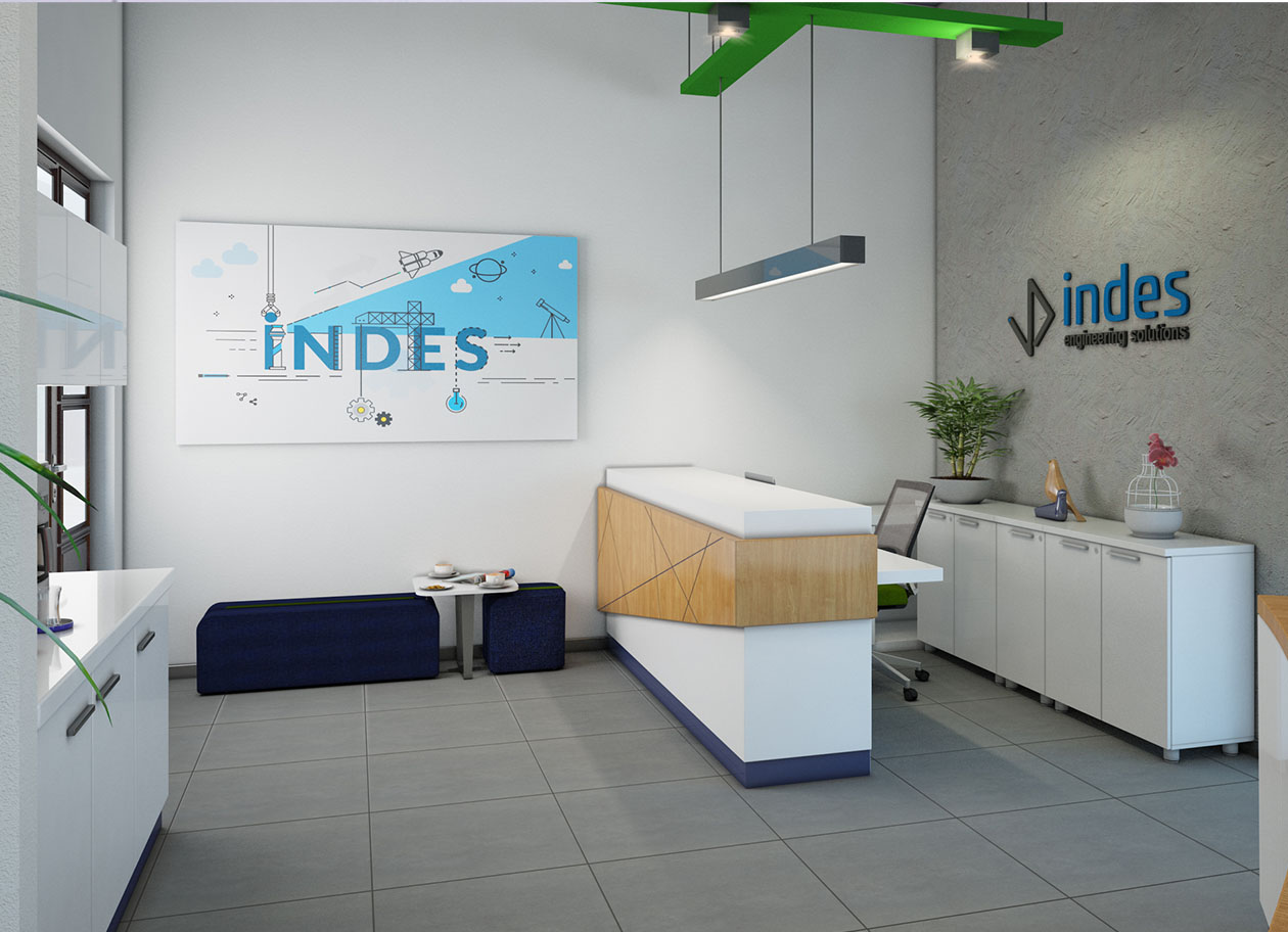 İNDES, in Their New Office